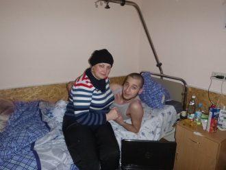 Нина Москалева с пострадавшими на Майдане