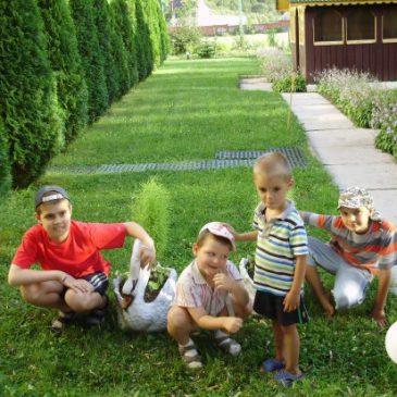 Наши дети в реабилиатационном центре в Карпатах