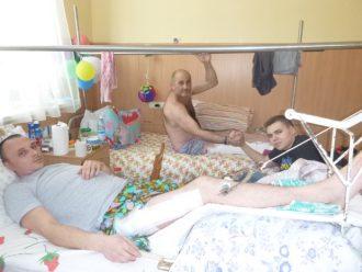 Столярчук Владислав в военном госпитале